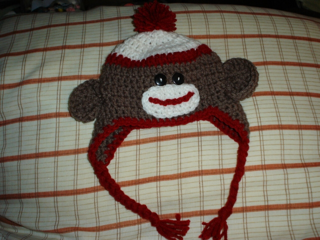 Monkey Sock Hat